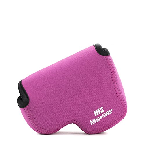 MegaGear MG787 Ultra Light Neoprene Case with Carabiner for Nikon Coolpix L340 Camera - Hot Pink from MegaGear