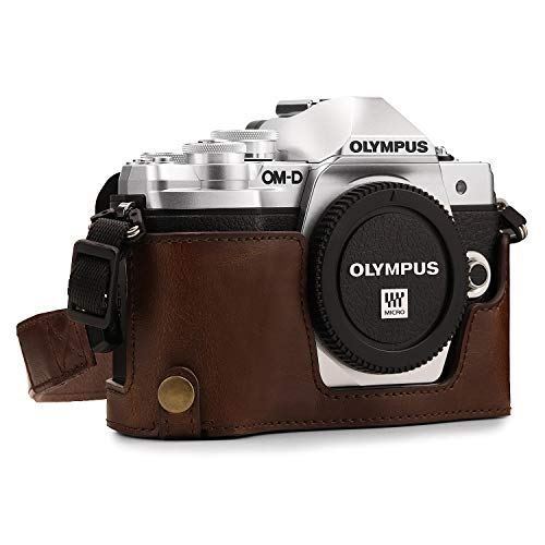 MegaGear MG970 Olympus OM-D E-M10 Mark II, E-M10 Leather Bags & Cases, Dark Brown from MegaGear