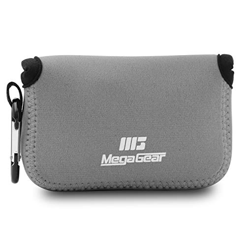MegaGear Panasonic Lumix DC-ZS200, TZ200, Leica C-Lux Ultra Light Neoprene Camera Case, with Carabiner – Gray from MegaGear