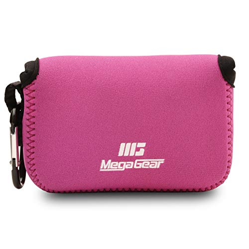MegaGear ''Ultra Light'' Neoprene Camera Case Bag with Carabiner for Canon PowerShot SX720 HS, SX610 HS, SX600 HS (Hot Pink) from MegaGear
