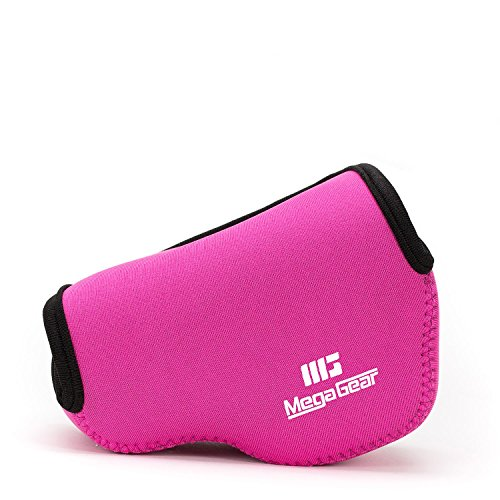 MegaGear ''Ultra Light'' Neoprene Camera Case Bag with Carabiner for SONY NEX5, NEX5N, NEX5R with 16-50 LENS (Magenta) from MegaGear