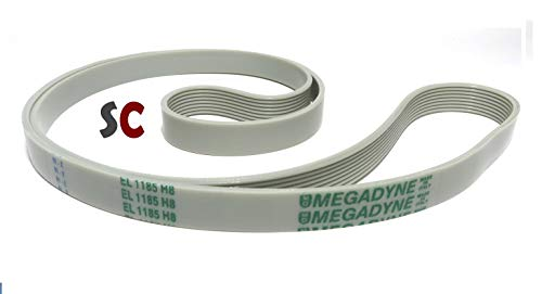 Megadyne - Washing machine drive belt EL 1185 H8 from Megadyne