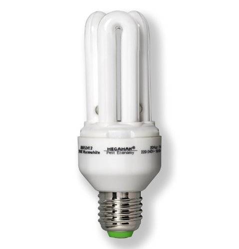 Megaman E27 Edison Screw 20 Watt Compact Fluorescent Light Tube 2700 k Light Bulb from Megaman