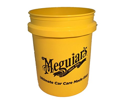 Meguiar's Yellow Large Car Wash Bucket 5US Gallon from Meguiar's