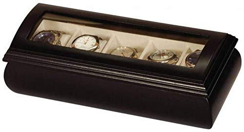 Gent's 5 Slot Watch Box Finish: Black Java from Mele