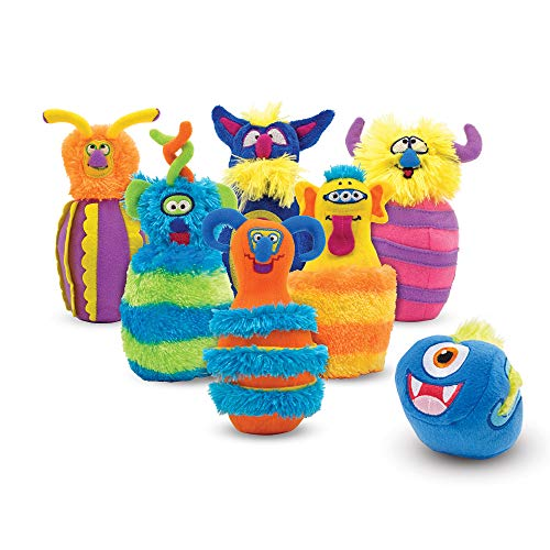 Melissa & Doug 12210 Monster Plush 6-Pin Bowling Game with Carrying Case from Melissa & Doug