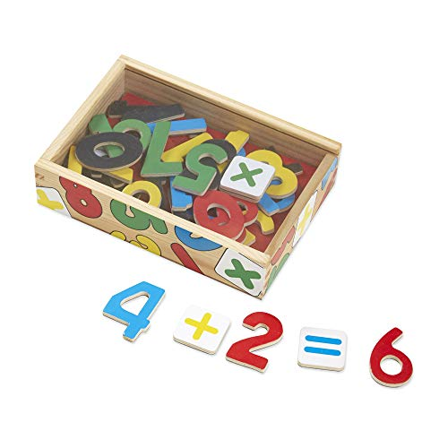 Melissa & Doug 37 Wooden Number Magnets in a Box from Melissa & Doug