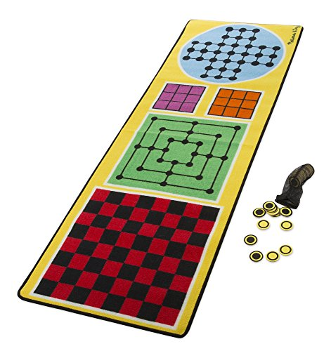 Melissa & Doug 4-in-1 Game Rug (78.5 x 26.5 inches) - 4 Board Games, 36 Game Pieces from Melissa & Doug