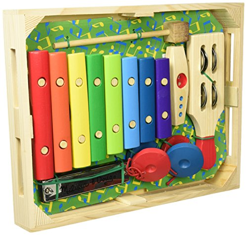 Melissa & Doug Band-in-a-Box Hum! Jangle! Shake! - 7-Piece Musical Instrument Set from Melissa & Doug