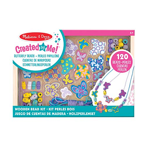 Melissa & Doug Butterfly Friends Wooden Bead Set With 150+ Beads for Jewellery-Making from Melissa & Doug