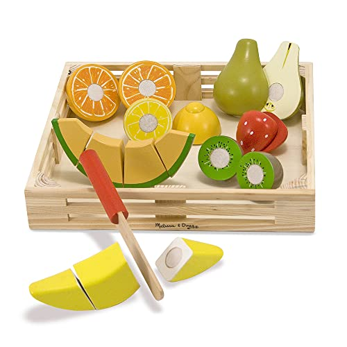 Melissa & Doug Cutting Fruit Set - Wooden Play Food Kitchen Accessory from Melissa & Doug