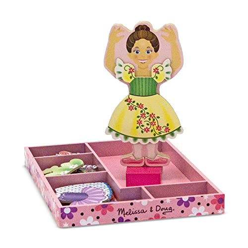 Melissa & Doug Deluxe Nina Ballerina Magnetic Dress-Up Wooden Doll With 27 Pieces of Clothing from Melissa & Doug