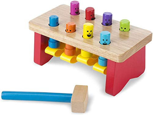 Melissa & Doug Deluxe Pounding Bench Wooden Toy With Mallet from Melissa & Doug
