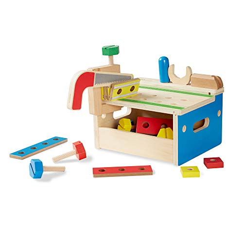 Melissa & Doug Hammer and Saw Tool Bench - Wooden Building Set (32 pcs) from Melissa & Doug