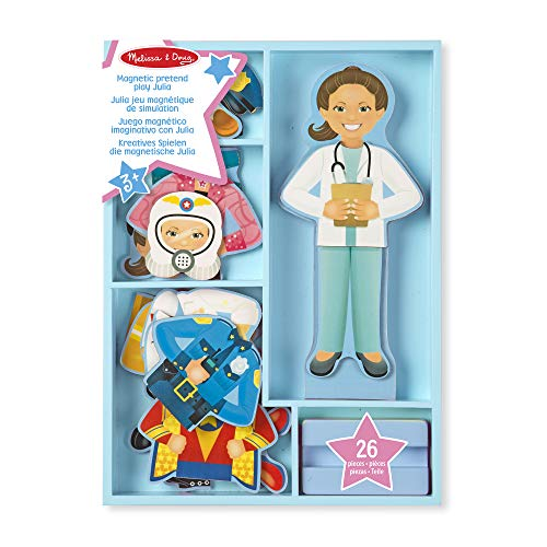 Melissa & Doug 15164 Julia Magnetic Dress-Up Wooden Doll Pretend Play Set (25+ pcs) from Melissa & Doug
