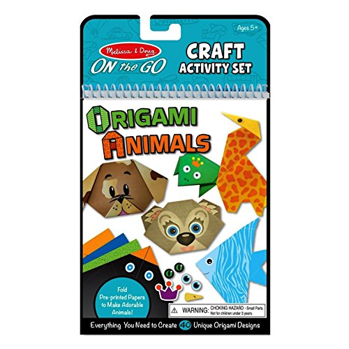 Melissa & Doug On the Go Origami Animals Craft Activity Set - 38 Stickers, 40 Origami Papers from Melissa & Doug
