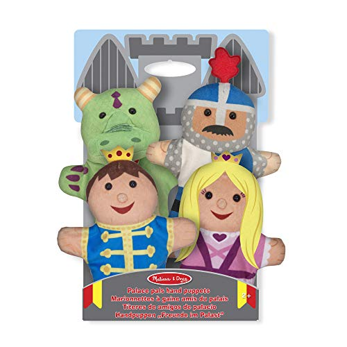 Melissa & Doug Palace Pals Hand Puppets (Set of 4) - Prince, Princess, Knight, and Dragon from Melissa & Doug