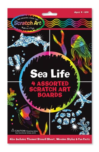 Melissa & Doug Scratch Art Activity Kit - Sea Life from Melissa & Doug