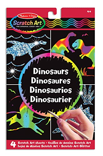 Melissa & Doug Scratch Art Activity Kit: Dinosaurs - 4 Holographic Boards from Melissa & Doug