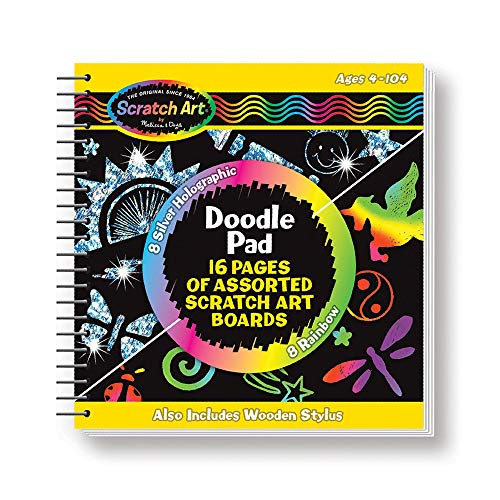 Melissa & Doug 15947 5947 Scratch Art Doodle Pad Book Arts & Crafts, Mini Stylus Included, Easy to Use, 16 Spiral-Bound Pages from Melissa & Doug