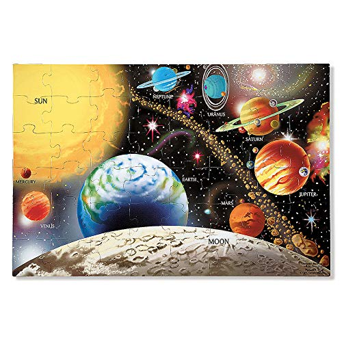 Melissa & Doug Solar System Floor Puzzle (Floor Puzzles, Easy-Clean Surface, Promotes Hand-Eye Coordination, 48 Pieces, 91.44 cm L x 60.96 cm W) from Melissa & Doug