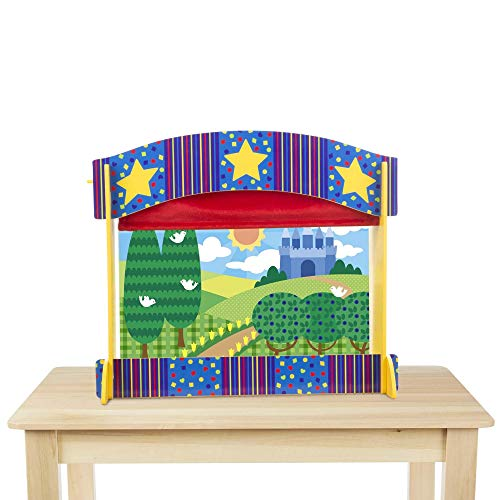 Melissa & Doug Tabletop Puppet Theater - Sturdy Wooden Construction from Melissa & Doug
