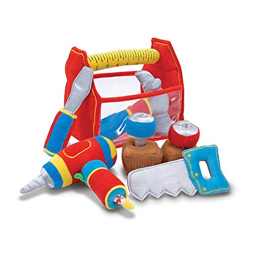 Melissa & Doug 13038 Toolbox Fill and Spill Toddler Toy With Vibrating Drill  (9 pcs) from Melissa & Doug