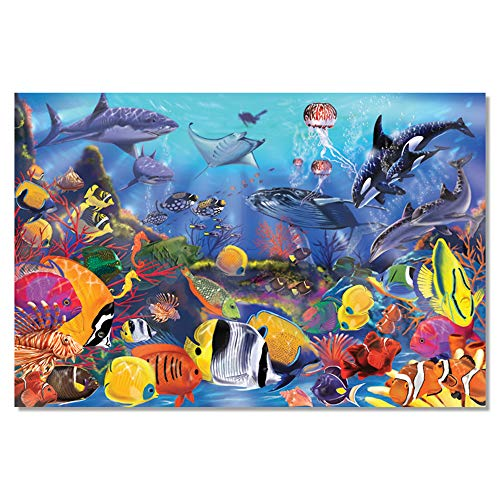 Melissa & Doug Underwater Floor Puzzle (Extra-Thick Cardboard Construction, Beautiful Original Artwork, 48 Pieces, 60.96 cm × 91.44 cm) from Melissa & Doug