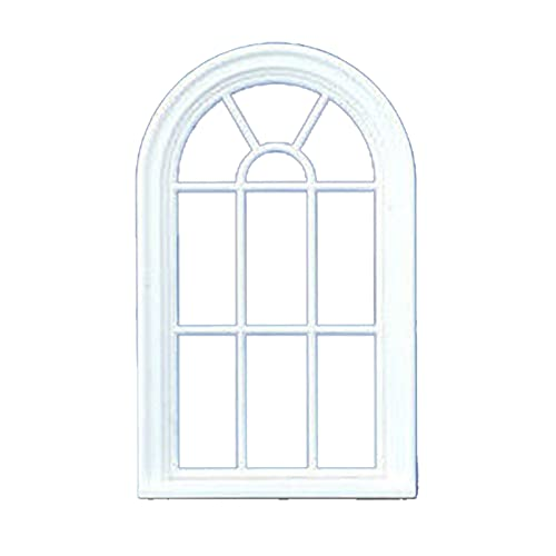 528f09bb66de Melody Jane Dolls House Miniature White Plastic Victorian Arched Window  Frame 1:24 Scale from