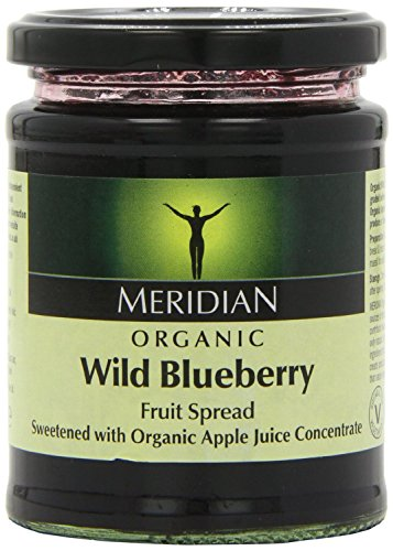 (3 PACK) - Meridian Wild Blueberry Spread - Organic| 284 g |3 PACK - SUPER SAVER - SAVE MONEY from Meridian Foods