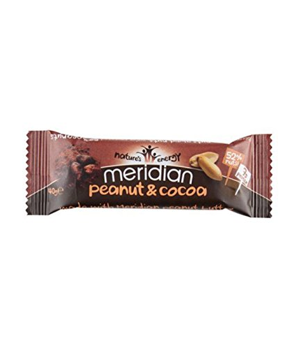 (4 PACK) - Meridian Peanut & Cocoa Bar | 40 x 18g x | 4 PACK - SUPER SAVER - ... from Meridian Foods