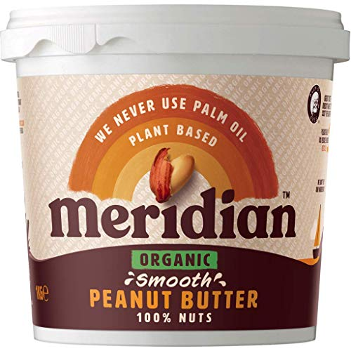 (Pack Of 6) - Organic Peanut Butter Smooth 100% Nuts | MERIDIAN FOODS - No GM Soya us from Meridian Foods