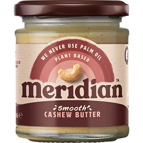 Meridian Natural Smooth Cashew Butter 170g (Pack of 4) from Meridian Foods
