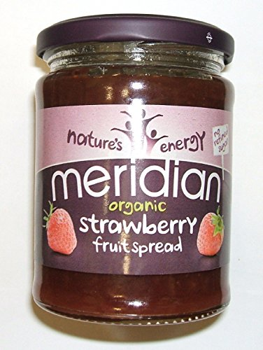 Meridian Organic Strawberry Fruit Spread 284g (Pack of 3) from Meridian Foods
