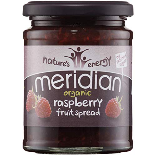 6 Pack of Gluten Free Meridian Organic Raspberry Fruit Spread 284 g from Meridian Foods