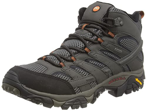 Merrell Men's Moab 2 Mid Gore-Tex' High Rise Hiking Shoes, Grey (Beluga), 10 UK from Merrell