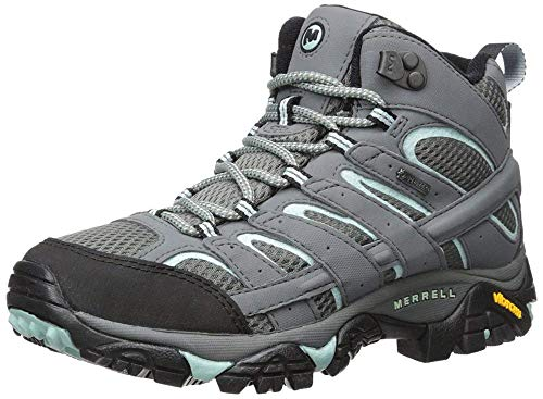 Merrell Women's Moab 2 Mid Gtx High Rise Hiking Shoes, Grey Sedona Sage, 4 UK from Merrell