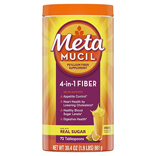 Metamucil Smooth Texture Orange Flavor Powder - 72 Doses from Metamucil
