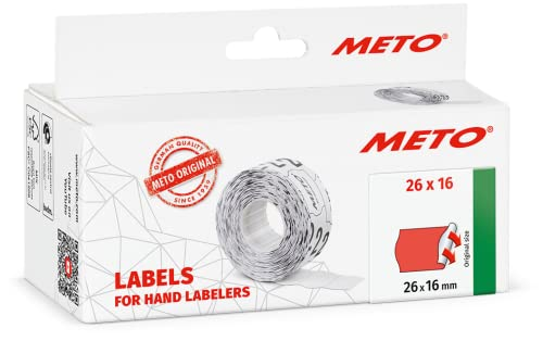 Meto 9506169 26 x 16 mm Hand Labelers - Fluor Red from Meto