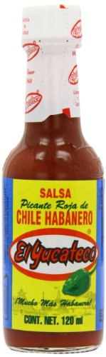 MexGrocer El Yucateco Red Habanero Salsa 120 ml (Pack of 2) from MexGrocer