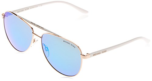 Michael Kors Women's HVAR 104525 59 Sunglasses, Rose Gold White/Blueemirror from Michael Kors