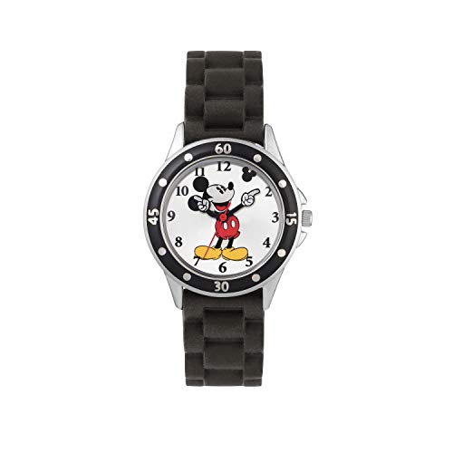 Mickey Mouse Children's Analogue Quartz Watch with Rubber Strap MK1195 from Mickey Mouse