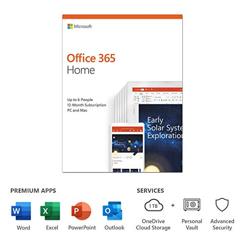 Microsoft Office 365 Home | up to 6 users | 1 year | PC/Mac | box from Microsoft