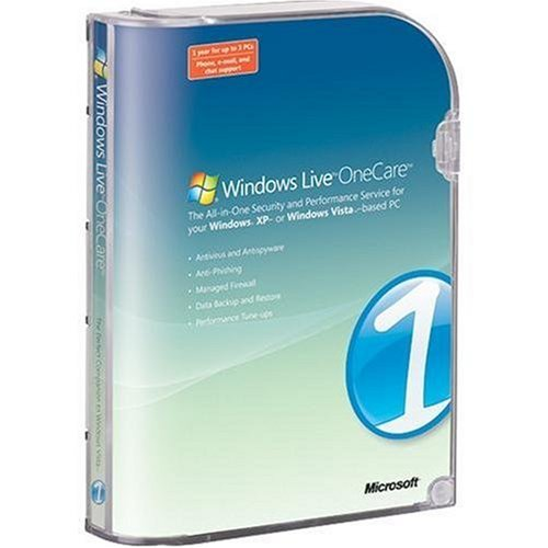 Microsoft Windows Live OneCare 1.5 (3 User Licence)  (PC) from Microsoft