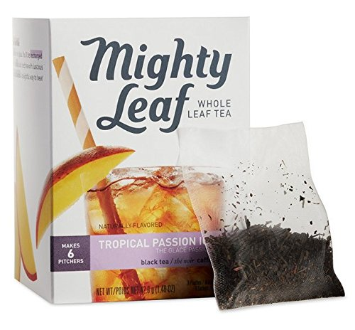 Mighty Leaf Tea - Whole Leaf Iced Tea Bags _ Tropical Passion 1 Box (6 Bags Inside) from Mighty Leaf Tea
