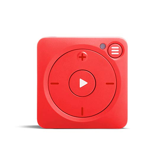 Mighty Vibe Spotify and Amazon Music Player - Mooshu Red - Audio Player Sports Clip, For Bluetooth and Wired Earphones - Gym, Running, Cycling With No Phone from Mighty