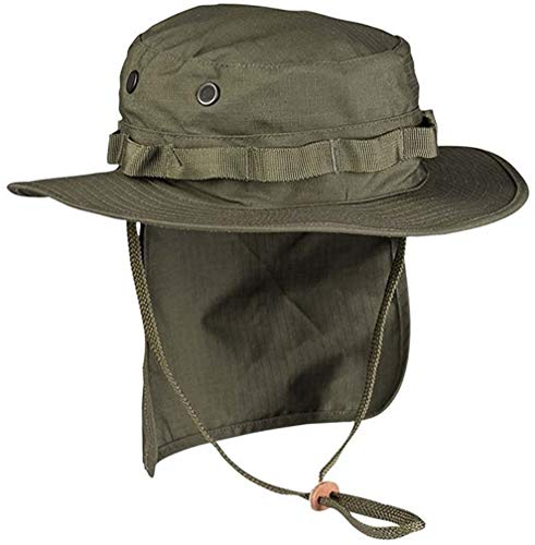 Miltec British Military Style Olive Drab Rip Stop boonie Hat With Neck Flap  (X- 9034d83461eb