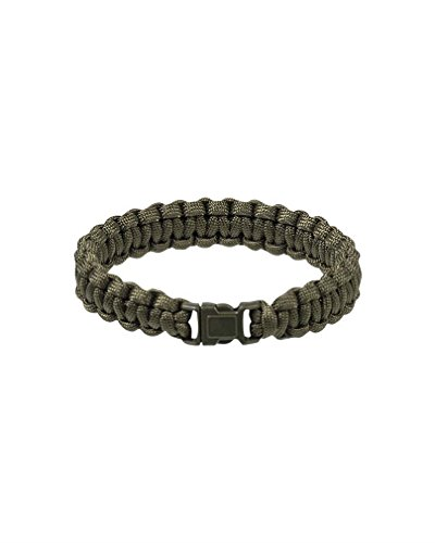 Tactical Paracord Wrist Band Bracelet Cord Camping Hiking Emergency Survival Olive from Mil-Tec
