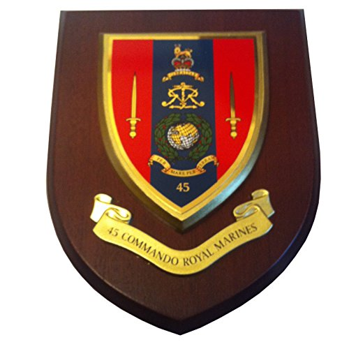 45 Commando Wall Plaque Royal Marines Military Regimental Shield from Military