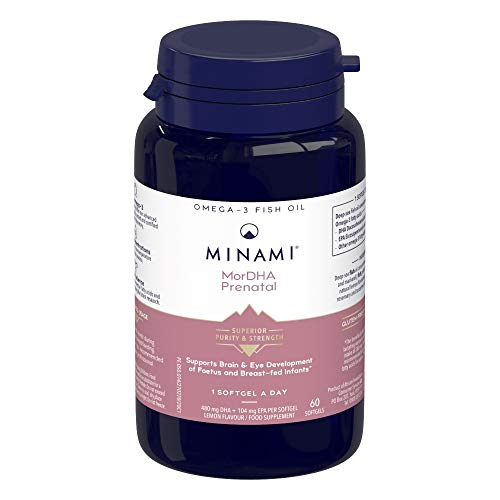 Minami - MorDHA Prenatal - Omega 3 Fish Oil - High Concentration DHA Formula - Supports Brain and Eye Development of Foetus and Breast-fed Infants - 60 Softgels from MINAMI